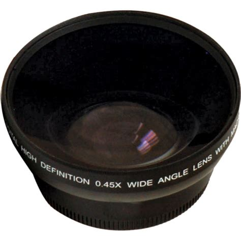 wide angle digital digital concepts 0 45x wide angle lens 62mm black 2662w b h