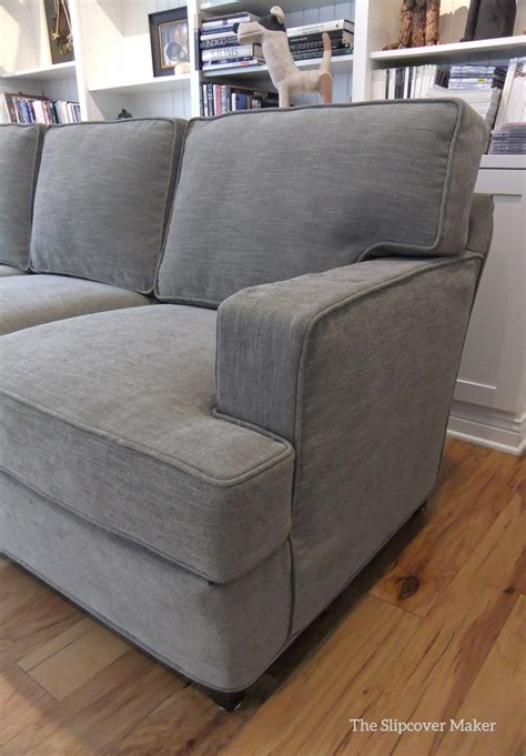 sofa slipcover in pottery barn performance tweed the