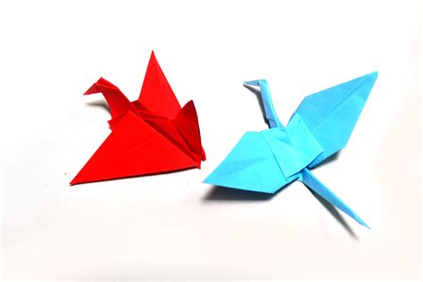How To Make Bird With Paper Folding - how to make origami birds with pictures wikihow