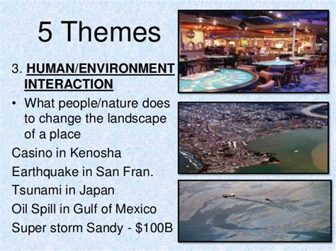 themes of geography human environment interaction 5 themes of geography 3 2