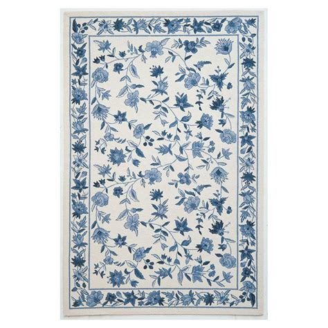 3 x 8 rug kas rugs wedgewood floral ivory blue 5 ft 3 in x 8 ft 3 in area rug col172753x83 the home