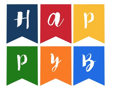 printable happy birthday banner happy birthday banner free printable paper trail design