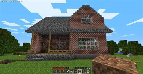 minecraft 2 story house cozy 2 story brick house minecraft house design