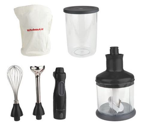 kitchenaid 9 speed immersion blender with accessories