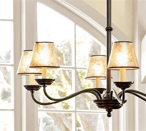 Chandelier L Shades Pb Basic Mica Chandelier Shades Pottery Barn