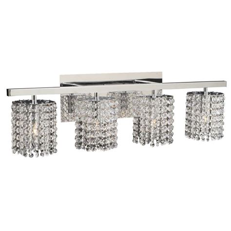 crystal bathroom vanity light fixtures plc lighting 72196 pc polished chrome four light crystal