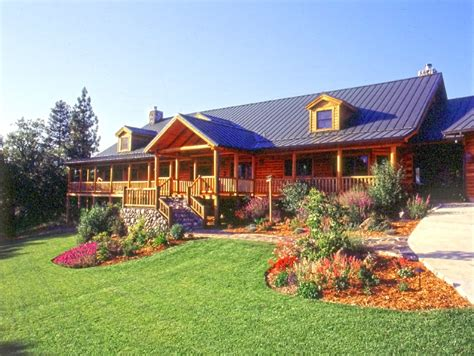 log cabin landscaping landscaping for easy log home maintenance 171 real log style lake home