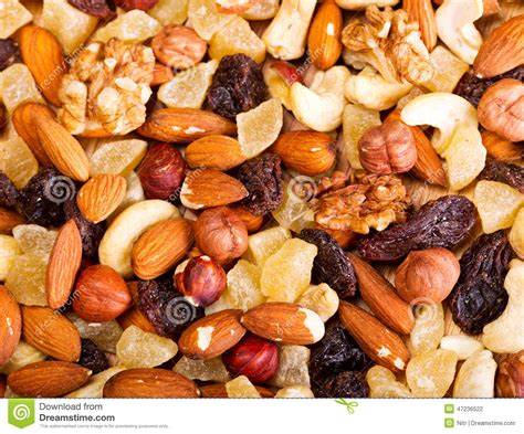 Mixed Nuts And Fruits 1 mixed dried nuts and fruit stock photo image 47236522