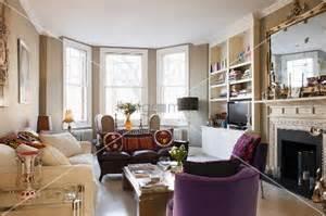 sitzgruppe wohnzimmer englisches gem 252 tliches wohnzimmer mit erkerfenstern davor