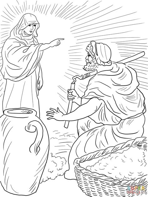 coloring page for gideon god s angel called gideon coloring page free printable