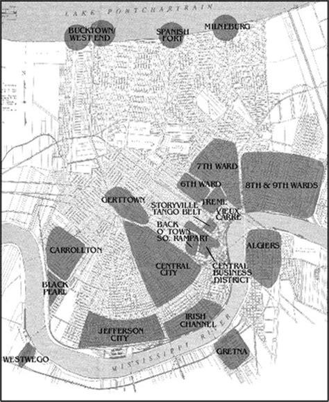 map new orleans jazz jazz neighborhoods new orleans jazz national historical