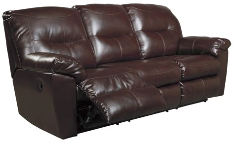 faux leather recliner sofa faux leather contemporary reclining sofa by signature