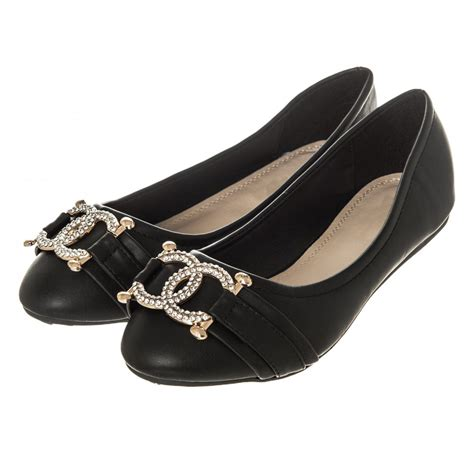 wedges flat shoes flat heeled ballerina pumps with diamante brooch