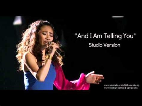 and i am telling you jessica sanchez quot and i am telling you quot full studio