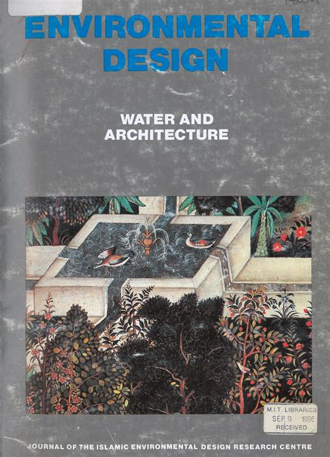 design for environment journal environmental design water and architecture archnet