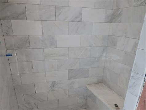 carrara marble tile bathroom large subway tile bathroom joy studio design gallery