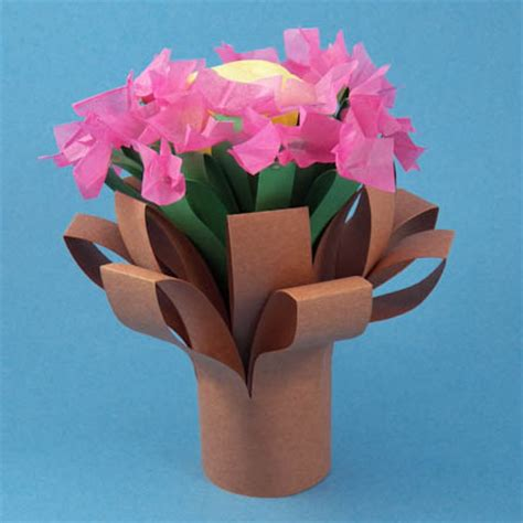 Crafts To Make With Construction Paper - make a simple folded bouquet friday craft projects
