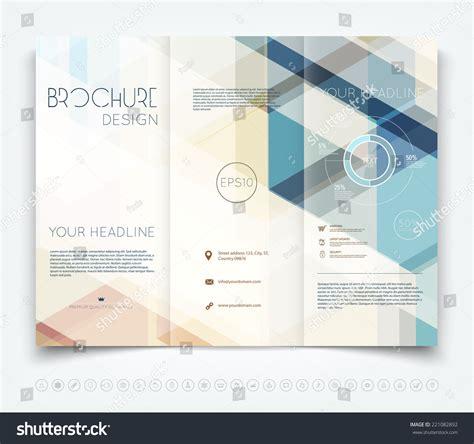 Vector Modern Trifold Brochure Design Template Stock Vector 221082892 Shutterstock Modern Tri Fold Brochure Template