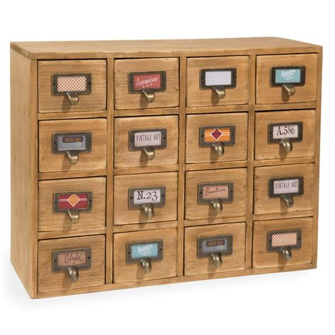 casier 16 tiroirs en bois h 35 cm st maximin maisons du
