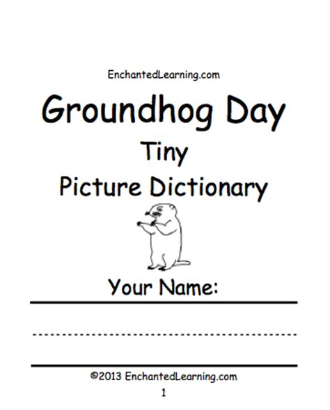 groundhog day meaning dictionary what s new at enchantedlearning march 2013