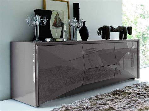 Rossetto Sapphire 74'' x 22'' Grey Sideboard   SAPPHIRE