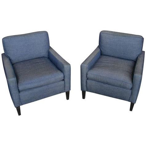 Armchairs And Ottomans by American 1940s Pair Of Armchairs And Ottoman For Sale At