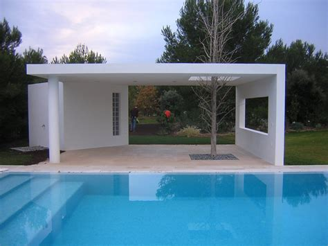 Pool House Contemporain by R 233 Alisation D Un Pool House Contemporain Dans La R 233 Gion De