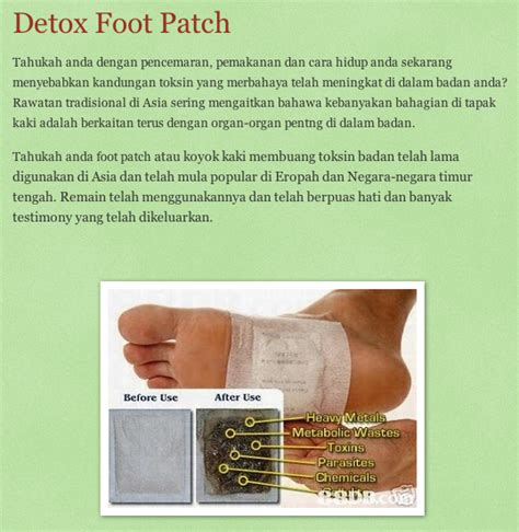 Testimoni Detox Foot Patch Dherbs by Panduan Pengguna Testimoni Kelentong Yak Boktam Kelih