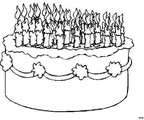 malvorlagen kuchen kuchen mit vielen kerzen ausmalbild malvorlage gemischt