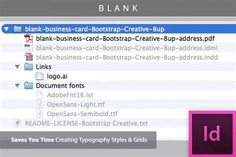 blank business card template indesign blank business card indesign template design bundles