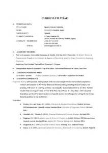 Modelo De Curriculum En Ingles Pdf Curriculum Vitae En Ingles New Calendar Template Site