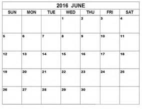 Free Calendar Templates To Print by June 2016 Printable Calendar Blank Templates Printable