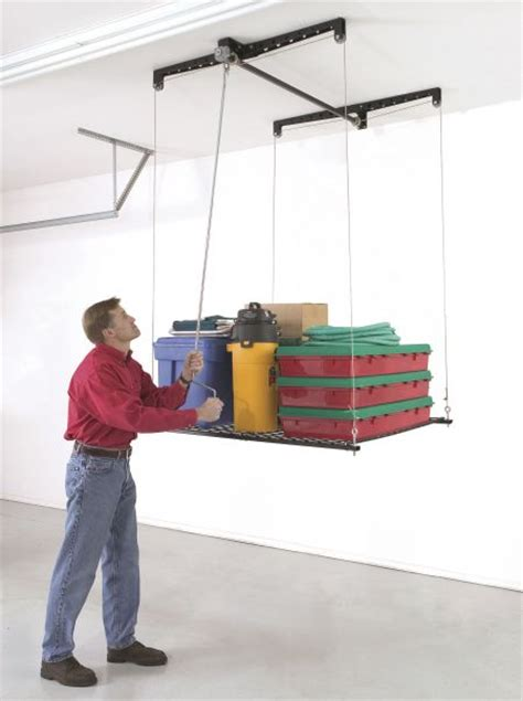 Garage Storage Hoist Platform Racor Heavylift Increases Your Garage Storage Space