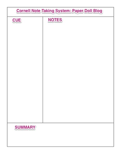 focus note taking template napo2014 notetaking and pendaflex tops focusnotes