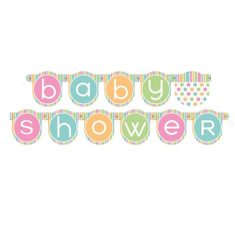 S Baby Shower by Pastel Baby Shower Banner Baby Shower Decorations