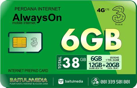Perdana 3 Aon 6 Gb Regular perdana tri aon 6 gb aktif 1 tahun murah di bali