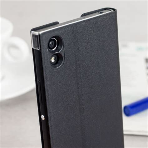 official sony xperia xa1 style cover stand case black