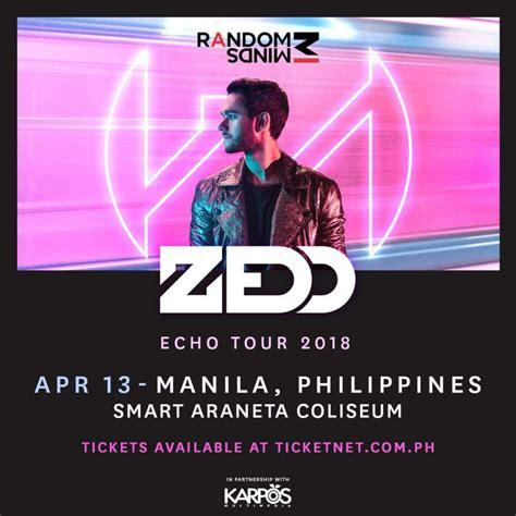 zedd tickets echo asia tour zedd live in manila philippine concerts