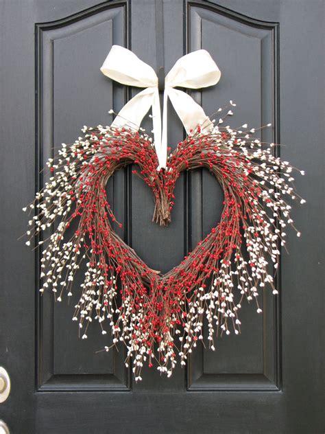 heart melting handmade valentines wreaths style