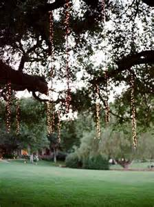 Tree Lighting In Memorable Wedding Beautiful Lighting For Outdoor Weddings