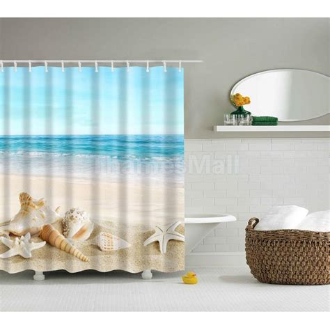 Weather Resistant Curtains Shower Curtain Shells Sheer Polyester Panel Square Water Resistant 3 Ebay