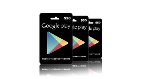 Electronic Google Play Gift Card - 10 gift cards you must carry cs products