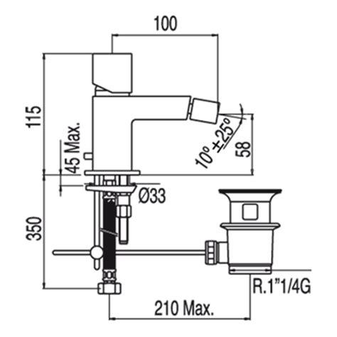 cuadro tres mitigeur bidet 50712003da acier
