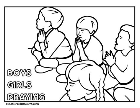 Children Praying Coloring Page Coloring Home Praying Child Coloring Page