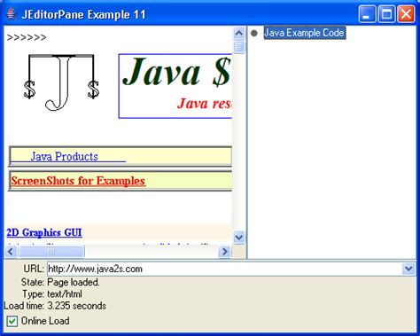 java swing browser create a simple browser in swing text editorpane 171 swing