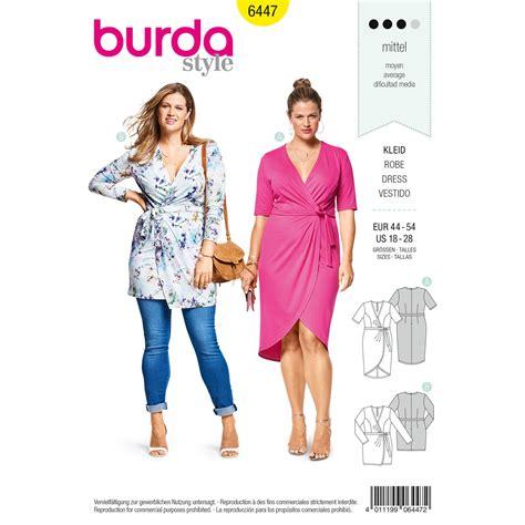 pattern review weekend 2018 burda burda style pattern b6447 women s mock wrap dress