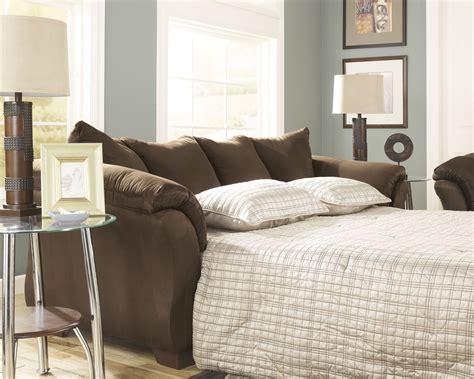 darcy full sofa sleeper darcy cafe full sofa chaise sleeper from ashley 7500458