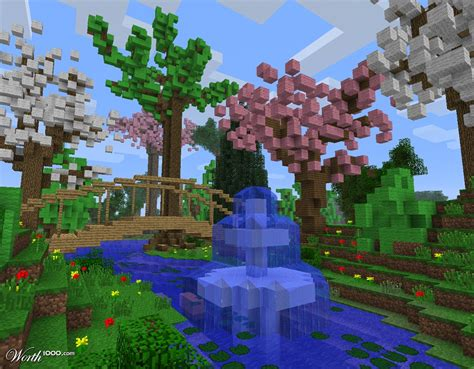 Minecraft Garden Ideas My Garden Worth1000 Contests