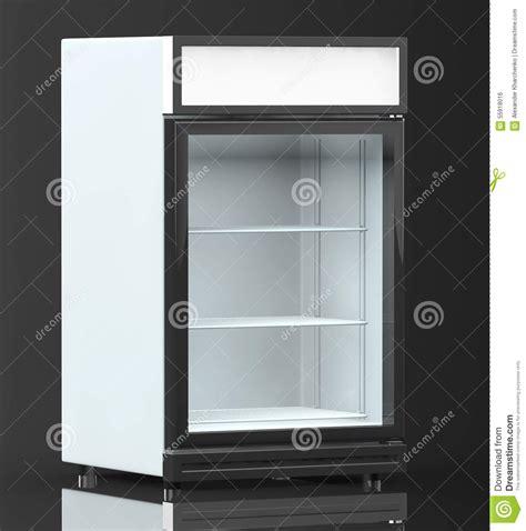 drink fridge with glass door fridge drink with glass door stock illustration image