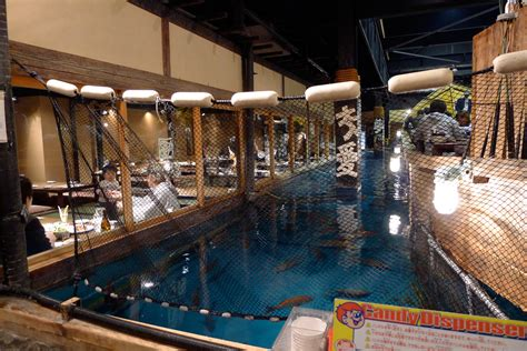 fishing boat restaurant japan zauo the japanese restaurant where you catch your own fish